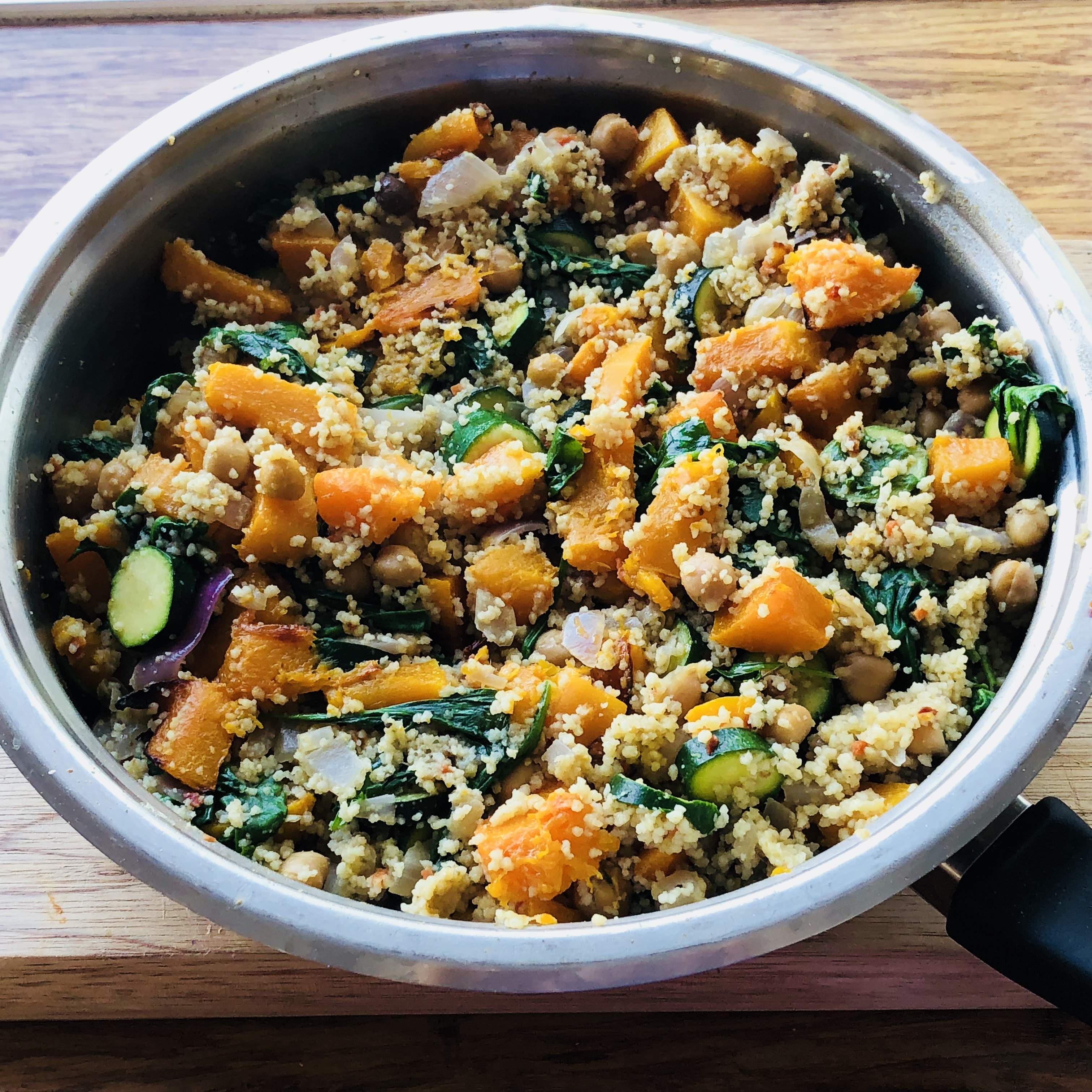 couscous and chickpea vegetarian recipe