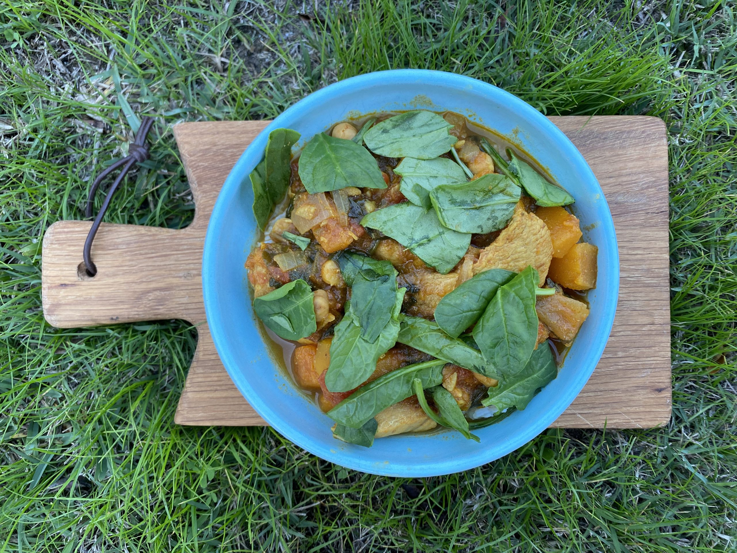 Chickpea and butternut curry healthy recipe